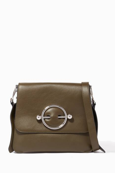 Khaki Disc Shoulder Bag