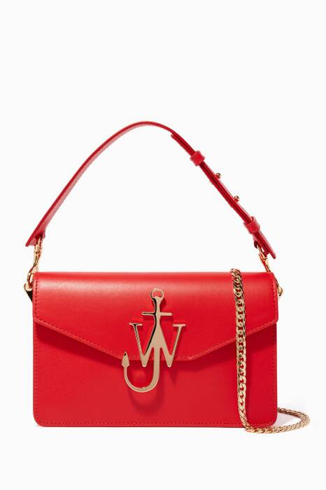 Scarlet Logo Leather Shoulder Bag