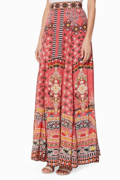 Multi-Coloured Printed Maxi Skirt