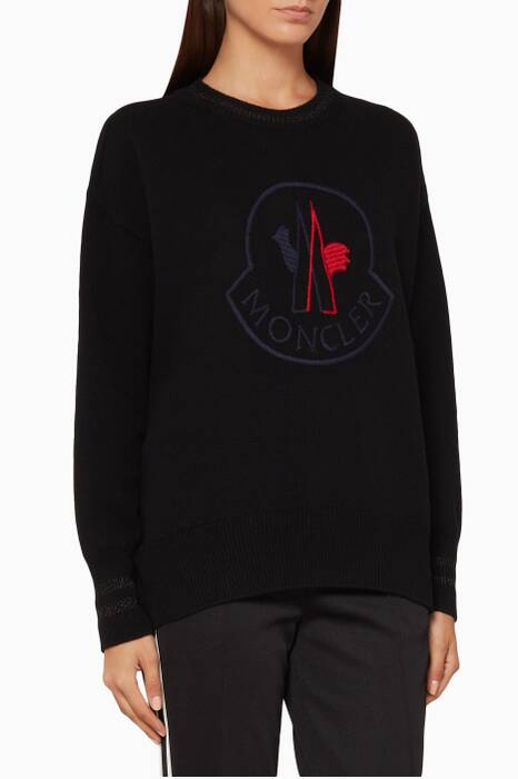 Black Logo Cashmere Sweater