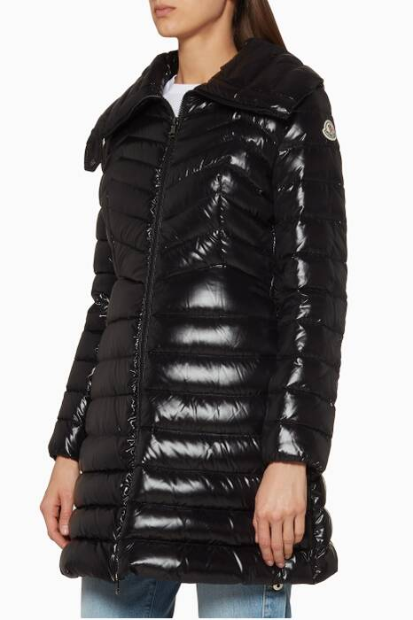 Black Quilted Faucon Jacket