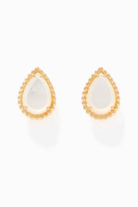 Yellow-Gold Serpent Bohème Mother-Of-Pearl Earrings