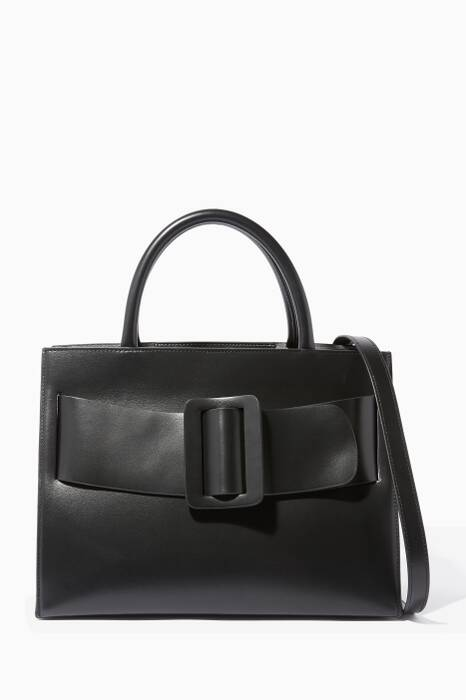Black Bobby Leather Tote Bag