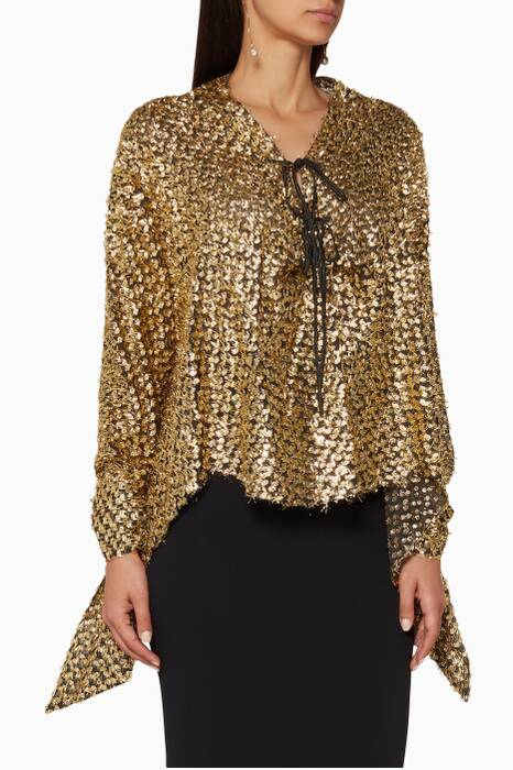 Gold Long-Sleeve Becker Top
