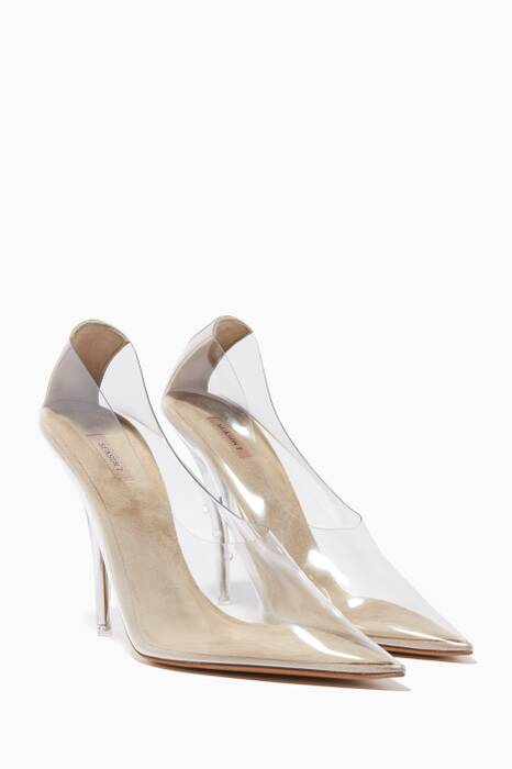 Transparent PVC Point-Toe Pumps