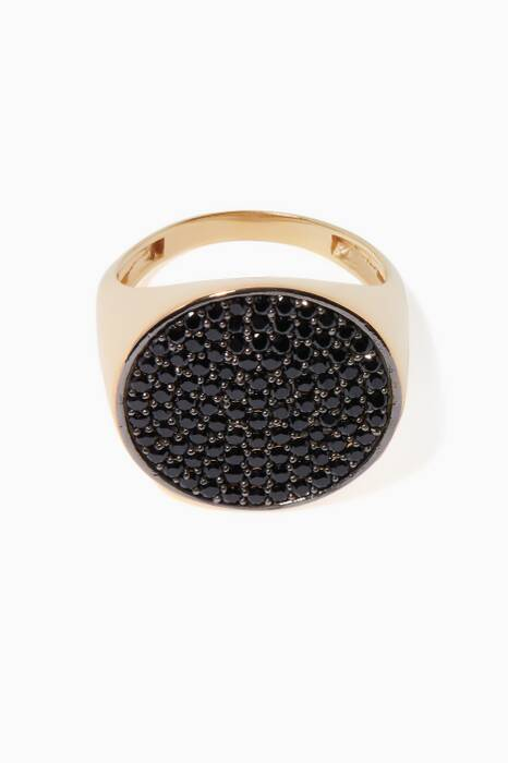 Gold Tribal Signet Ring