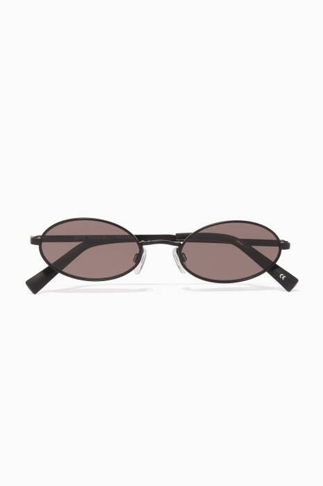 Black & Khaki Love Train Oval Sunglasses
