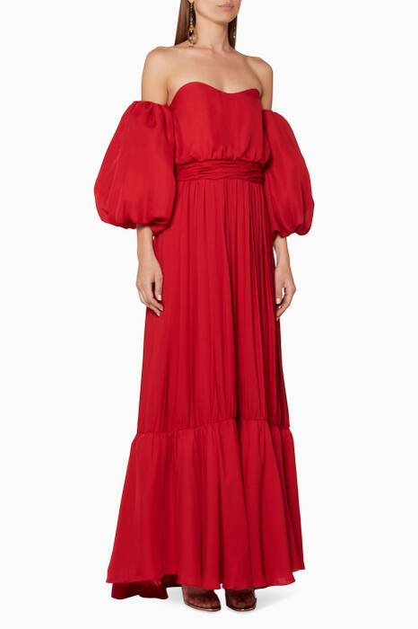 Spicy=Red Señora Maria Rosa Dress