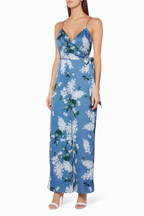 Blue Floral-Print This Moment Jumpsuit