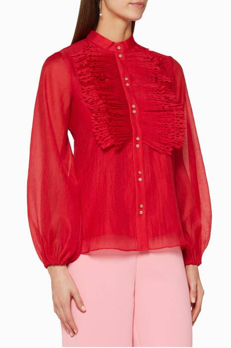 Mulberry-Red Moonlighters Top