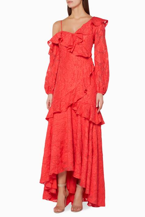 Red Lace Radar Gown