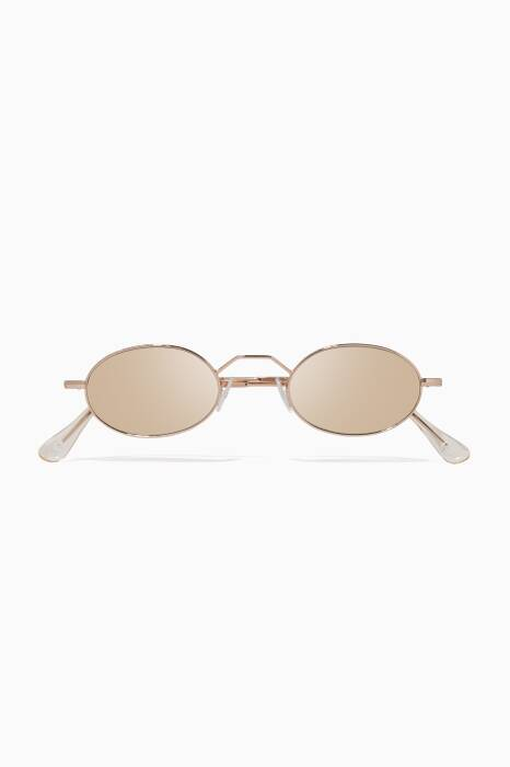 Gold Armstrong Oval-Eye Sunglasses