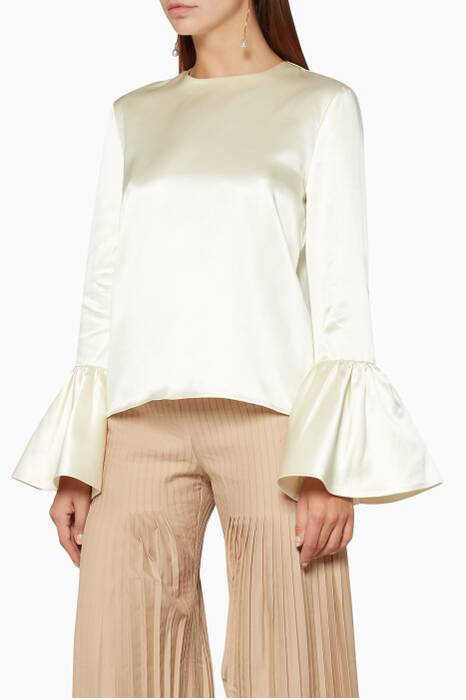 Ivory Silvie Long-Sleeve Top