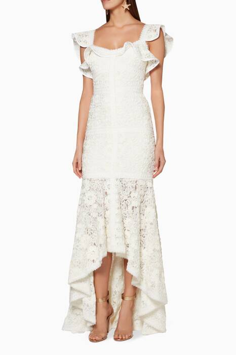 Ivory Zander Lace Gown