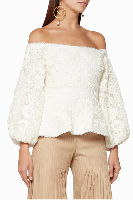 Ivory Off-The-Shoulder Joscelin Blouse