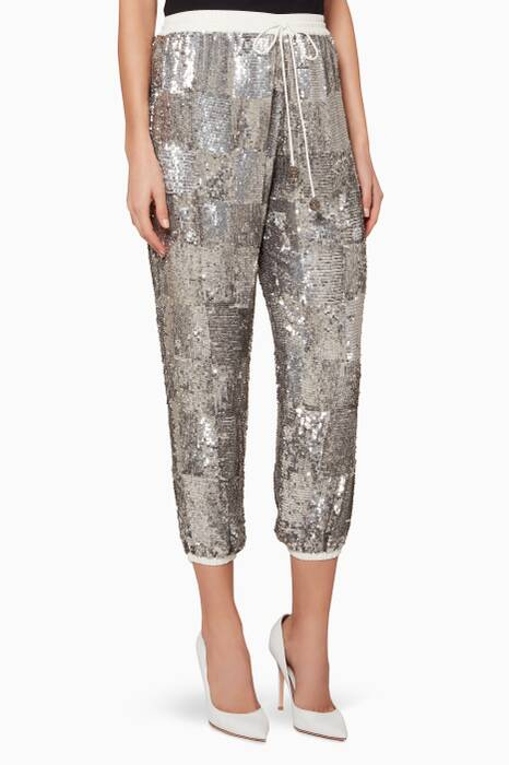 Silver Embellished Stacia Pants
