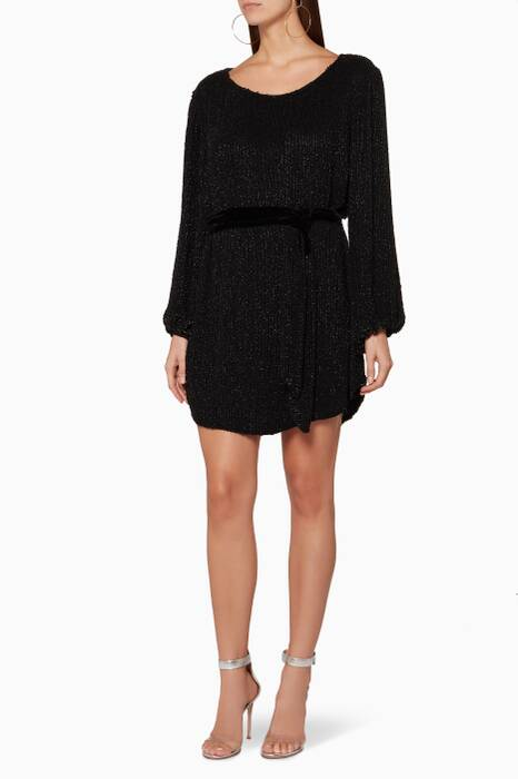 Black Grace Mini Dress