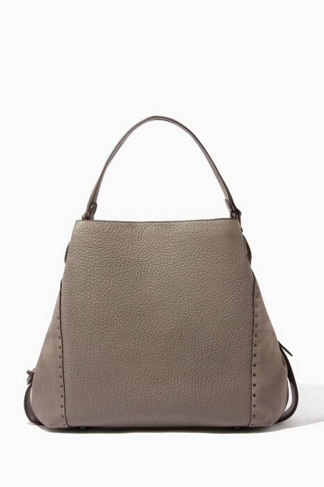 Heather-Grey Rivet Edie 42 Shoulder Bag