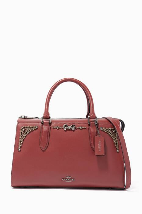 Coach X Selena Gomez Crystal-Embellished Selena Bond Bag
