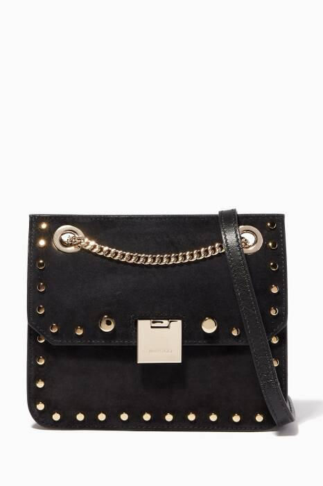 Black Rebel/XB Leather Studded Cross-Body Bag