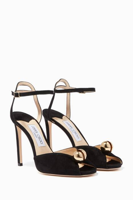 Black Sacora Suede Sandals