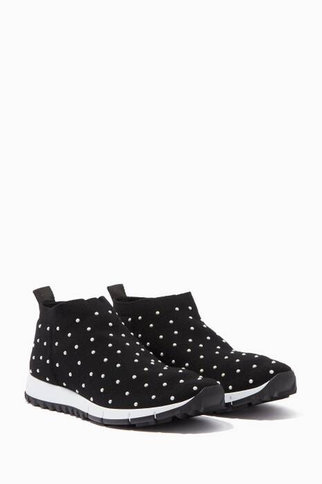 Black & White Norway Knitted Sneakers