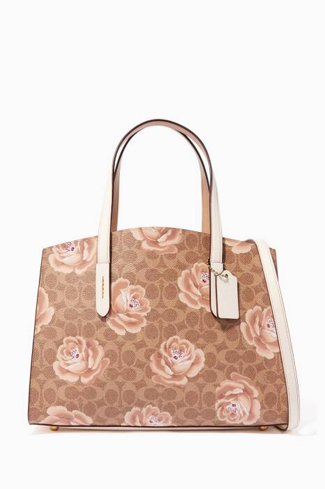 Chalk & Tan Medium Charlie Tote Bag