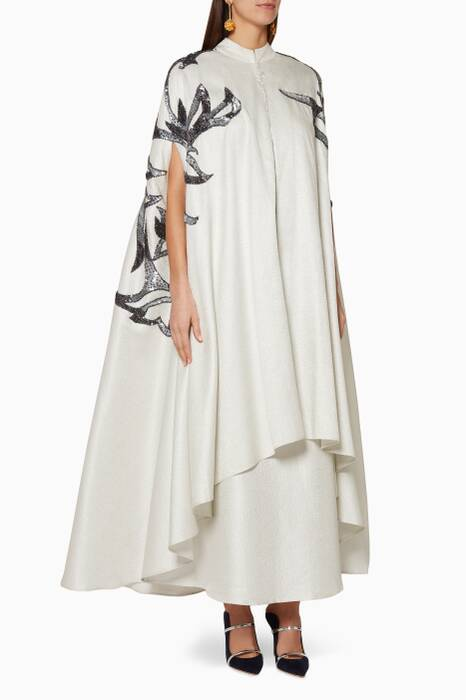 Off-White Embellished Kaftan