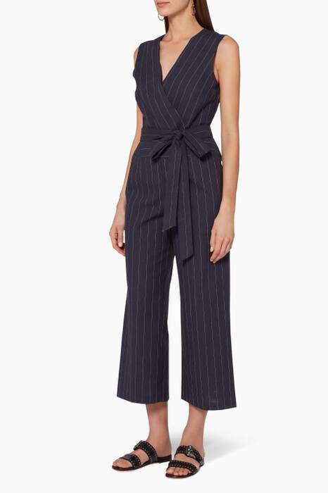 Navy Striped Josyln Jumpsuit