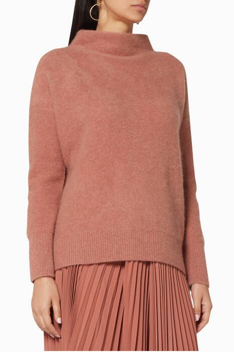 Vintage Rose Funnel-Neck Sweater