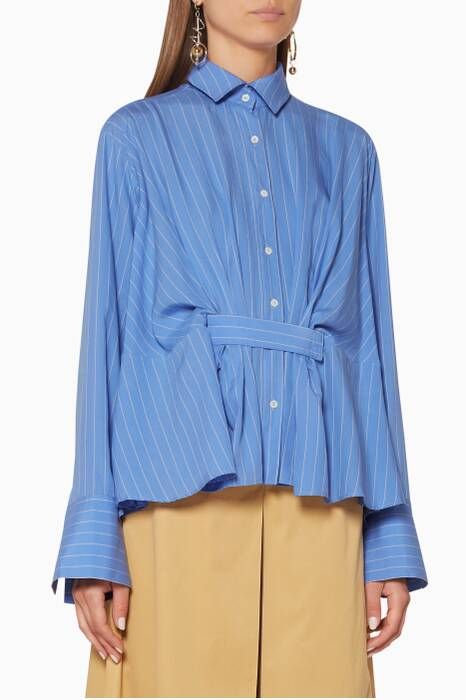 Blue Striped Rise Shirt