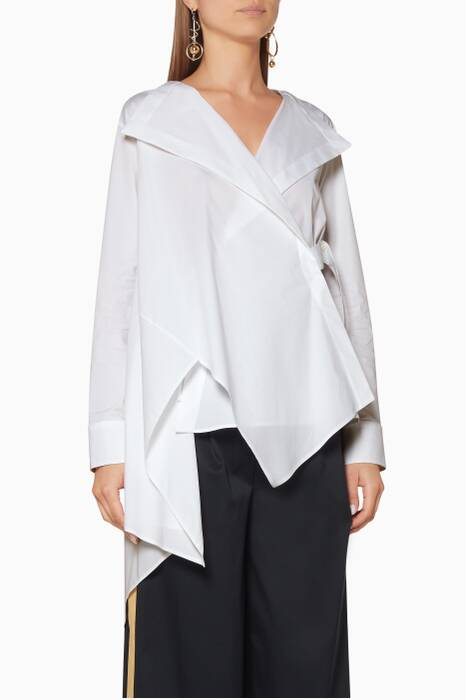 White Asymmetrical Finale Shirt