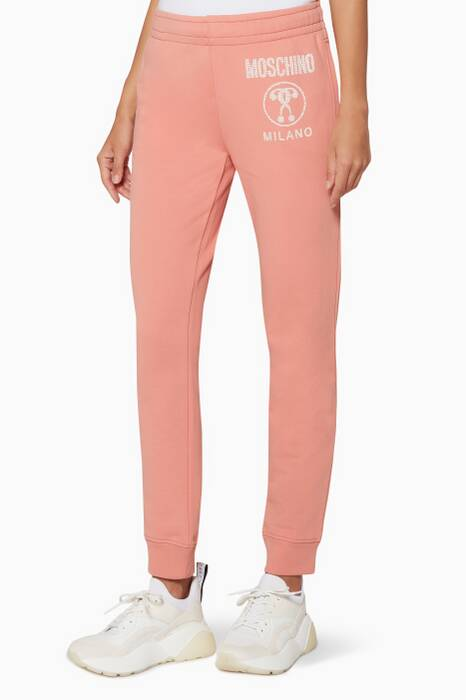 Light-Pink Logo Track Pants