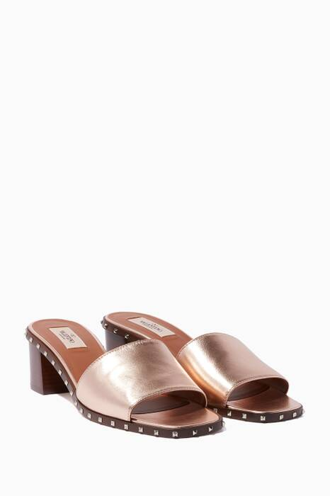Rose-Gold Soul Rockstud Sandals