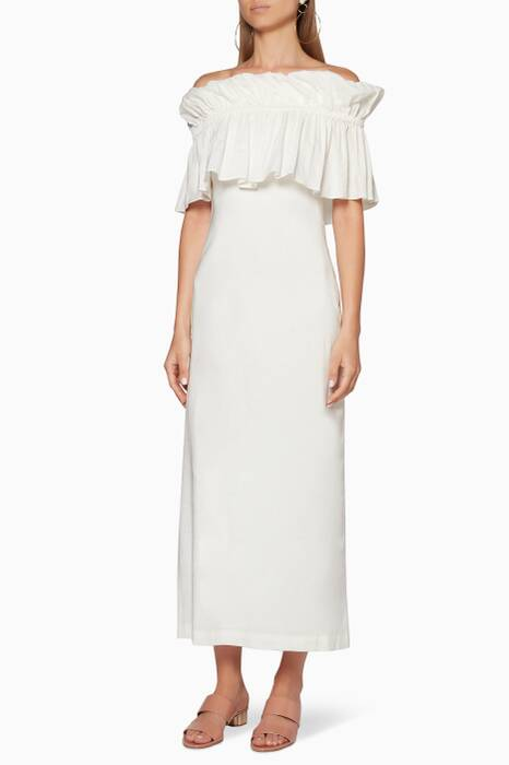 White Linen Mina Dress