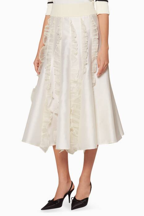 Ivory Here To Do Good Midi Skirt