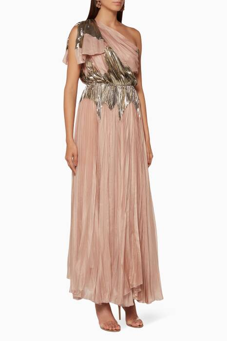 Light-Pink One-Shoulder Rasha Dress