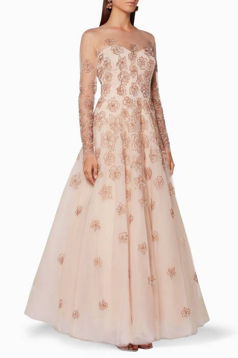 Nude Embellished Nona Gown
