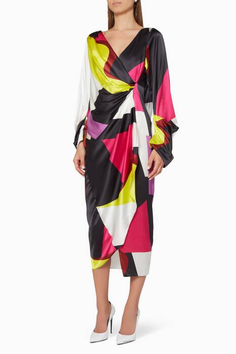 Multi-Coloured Aurora Midi Dress