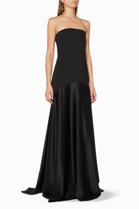 Black Strapless Alessandra Gown