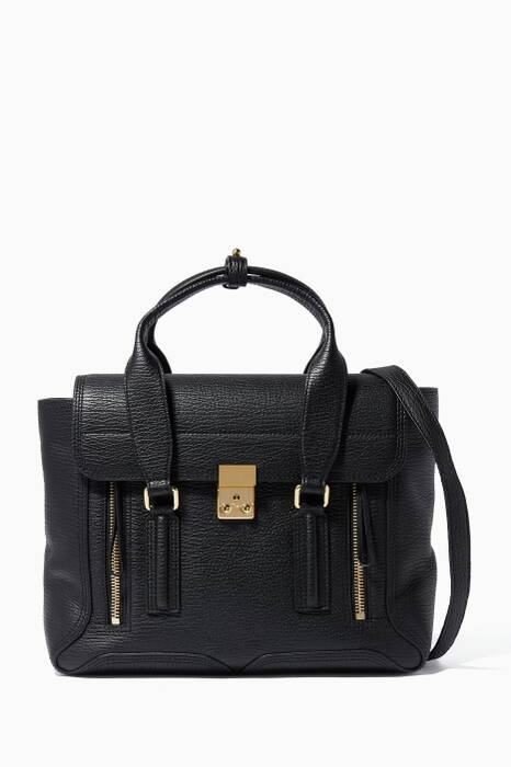 Black Medium Pashli Satchel