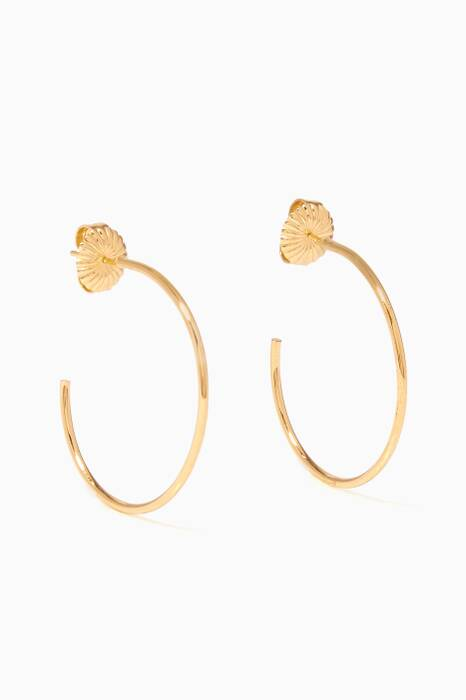 Gold Large Karla Hoop Earrings
