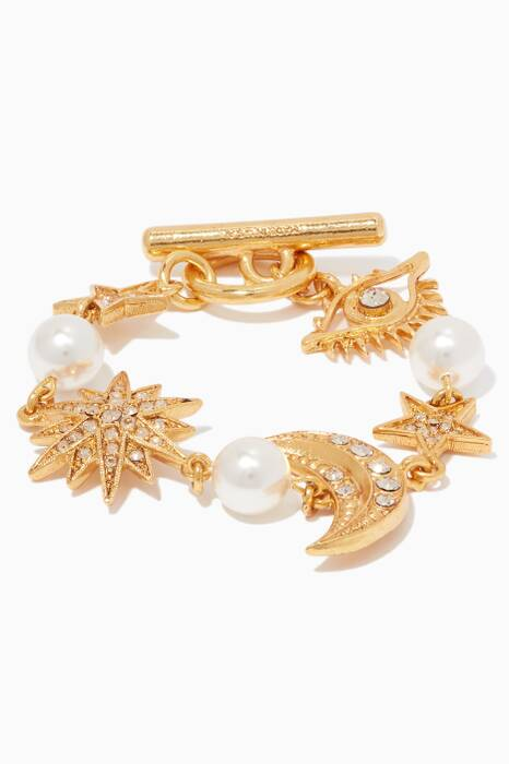 Gold Moon & Star Bracelet
