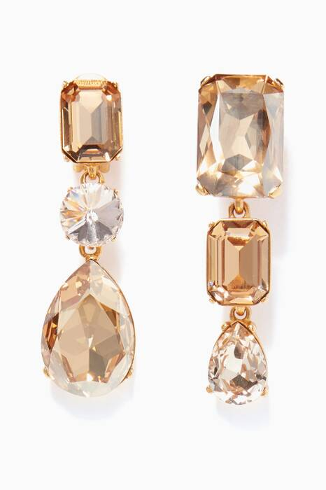 Gold Bold Crystal Earrings