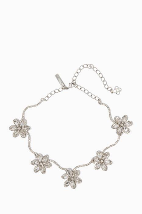 Silver Delicate Flower Necklace