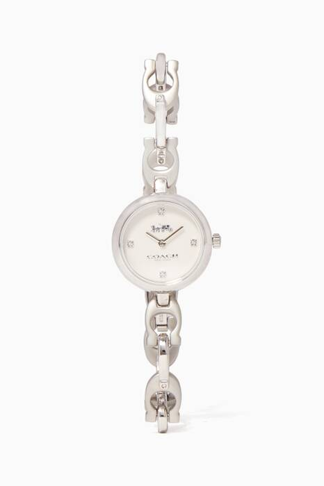 Silver Signature Chain Watch