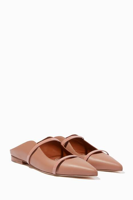 Nude Maureen Leather Flats