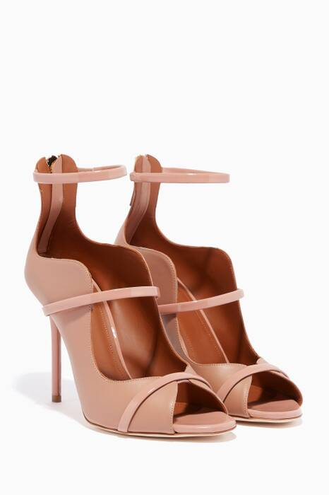 Nude Mika Leather Peep-Toe Pumps