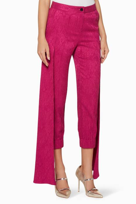 Fuchsia Panel-Detail Jagger Pants