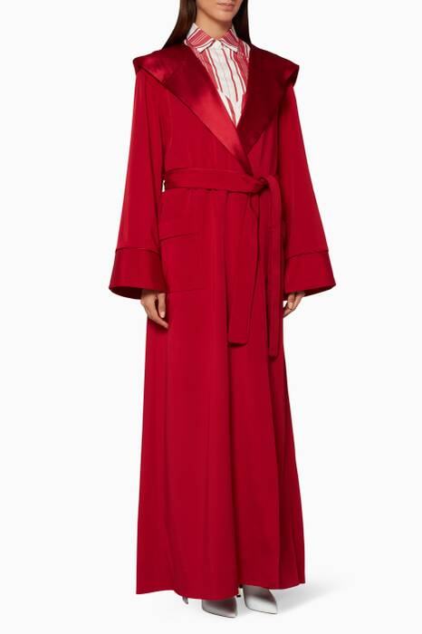 Ruby-Red Blake Hooded Robe